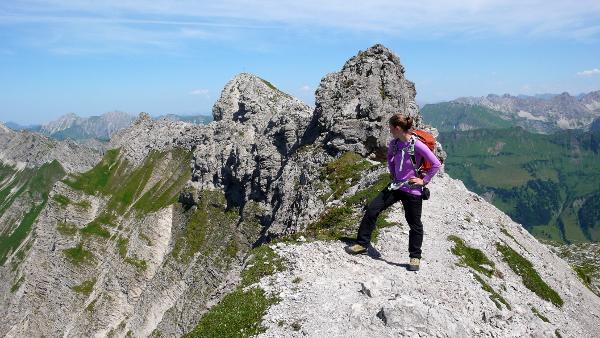 Hindelanger Klettersteig Wengenkopf : Westlicher wengenkopf u201ebayerländerwegu201c 5 550m bergstille.de