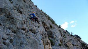 4. Seillänge La Grotte