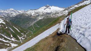 Abstieg Gross Muttenhorn