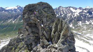 Abstieg Turm 2 Pizzo Nero Südgrat