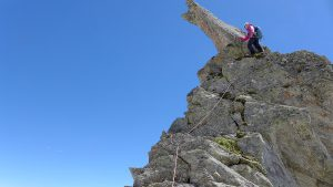 Abstieg Turm 4 Pizzo Nero Südgrat