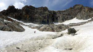 Abstieg Abseilpiste Galengrat
