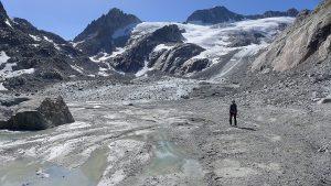 Treibsand-Ebene Tiefenbachgletscher